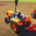 拖拉机耕作司机