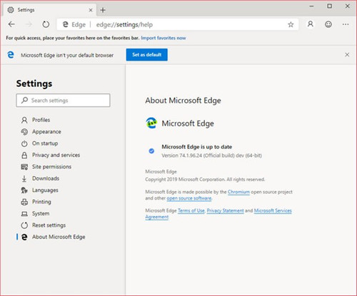 Microsoft Edge Dev开发版下载