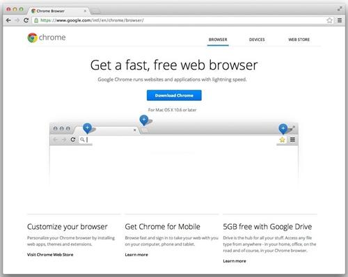 谷歌浏览器苹果电脑开发版下载