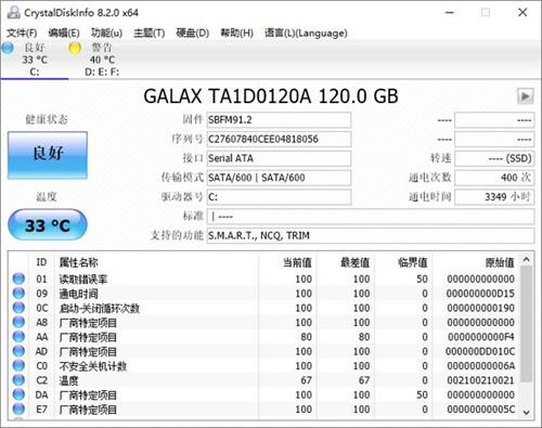 CrystalDiskInfo绿色中文版下载