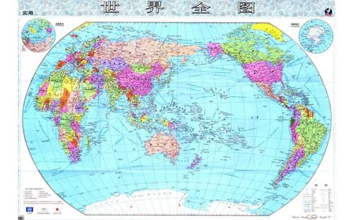 世界地图中文版全图高清