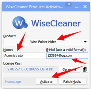 Wise Folder Hider注册机下载